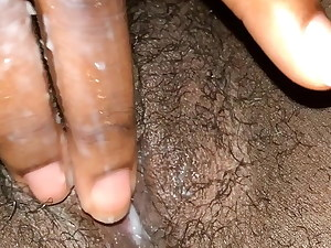 pretty wet ebony pussy