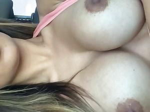Brunette perfect tits