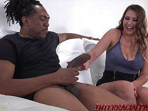 Ivy Rose gets her Pussy Stretched in her First Multiracial